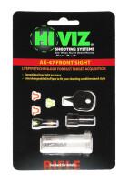 Мушка HiViz для АК (сайга, тигр, вепрь), в комплекте 2 зеленых и 2 красных оптоволокна AK2010