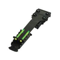 Целик HiViz регулируемый на вентилируемую планку 4.2-8 мм, TS2002