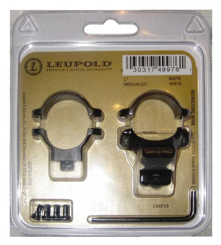 Кольца Leupold для быстросъемного кронштейна 26 мм средние с выносом (extension) матовые 49976