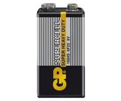 Батарейка GP Supercell MN1604 (6F22) Крона, солевая, OS1
