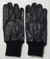 Перчатки стрелковые кожаные, черные, KSGB
