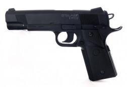 Пистолет пневматический Stalker S1911G (Colt 1911) к.4,5мм, пластик, 120 м/с, черный ST-12051G