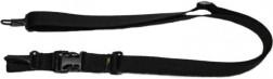 Ремень Vektor тактический трехточечный черный без плечевой накладки, из синтетической ткани, Р-26 ч