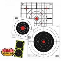 Мишень бумажная Birchwood Bull's-eye Paper Target 200мм, шт.