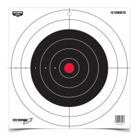 Мишень бумажная Birchwood Eze-Scorer 300мм Bull's-Eye, 13 шт, 37013