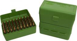Коробка для патронов MTM Case-Gard RS-S-50, зеленая