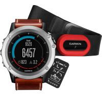 Часы Garmin Fenix 3 Sapphire с кожаным ремешком и пульсометром 010-01338-61