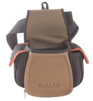Сумка Allen для патронов с доп. карманами для наушников, очков, чоков(на пояс), цвет кофе/черн. 425гр. 8306
