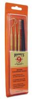 Набор сервисных инструментов Hoppe's 9 (3 стержня латунь с насадками + нейлоновая щетка) упаковка - блистер T03