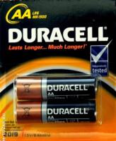 Щелочные батарейки Duracell Basic AA, 2УП, отрывной набор