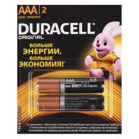 Щелочные батарейки Duracell Basic AAA, 2УП, отрывной набор