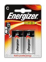 Щелочные батарейки Energizer Max - C, 2 шт