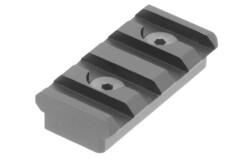 Кронштейн UTG Picatinny на KeyMod, 4 слота, длина 40мм, высота 9,5мм. 2 болта, алюминий, черный, 17гр. MTURS04S