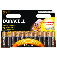 Щелочные батарейки Duracell Basic AA, 12УП