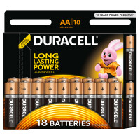 Щелочные батарейки Duracell Basic AA, 18УП