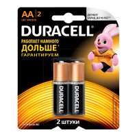 Щелочные батарейки Duracell Basic AA, 2УП