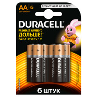 Щелочные батарейки Duracell Basic AA, 6УП