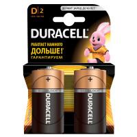 Щелочные батарейки Duracell Basic D, 2УП