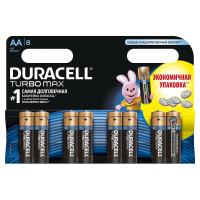 Щелочные батарейки Duracell Turbo Max AA, 8УП