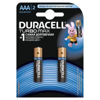 Щелочные батарейки Duracell Turbo Max AAA, 2УП