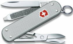 Нож перочинный Victorinox Classic Alox 58 мм 5 функций серебристый подарочная коробка, 0.6221.26-012