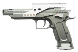 Пистолет пневматический Cybergun Tanfoglio Gold Custom, 4.5 мм, металл, блоубэк