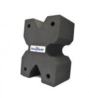 Опора Benchmaster для оружия, жесткая пена, X-образная, разные вырезы на 4 стороны, 20,3х15,2х10,1 см, черная, 0,13кг