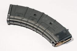 Магазин Pufgun на ВПО-136/АК/АКМ/Сайга (с сухарем), 7,62х39, 30 патронов, полимер, возм. укорочения, черный, 204гр.