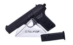 Пистолет пневм. Stalker SATT Spring (аналог ТТ), к.6мм, мет.корпус, магазин 11шар, до 80м/с, черный