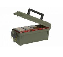 Plano Ящик для гладкоствольных патронов на 4 пачки, водозащищенный, р-р 34,6х14,28х14,28, зеленый, 0,53 кг