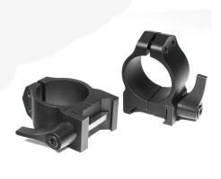 Кольца быстросъемные Warne 25,4 мм Weaver низкие 200LM