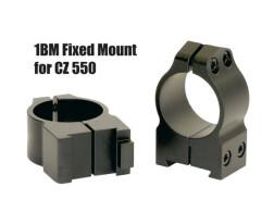 Кольца Warne CZ550 25,4 мм средние 1BM