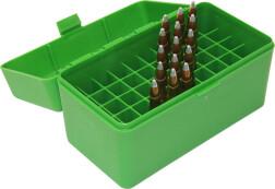Коробка для патронов MTM Case-Gard RLLD-50, зеленая