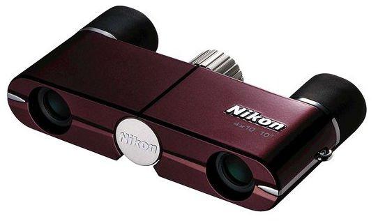 Тетральный бинокль Nikon 4x10 DCF Burgundy