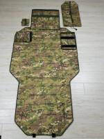 Тактический стрелковый мат Русский снайпер Зима-компакт, мультикам пу