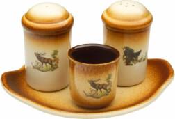 Набор для специй Kozap солонка, перечница, стакан для зубочисток на подставке
