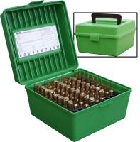Кейс для патронов MTM Case-Gard R-100-MAG Deluxe, зеленый