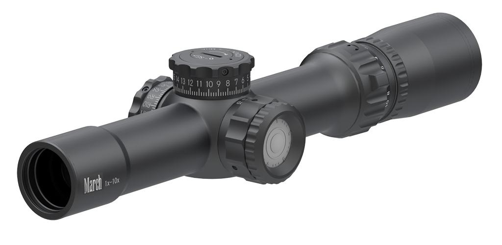Оптический прицел March Compact 1-10x24 Tactical с подсветкой, 1/4 MOA, MTR-4