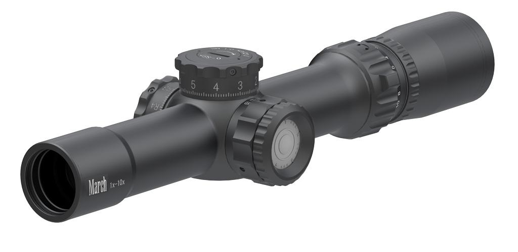 Оптический прицел March Compact 1-10x24 Tactical с подсветкой, 0.1 MIL, MML