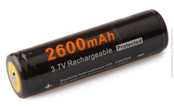 Аккумулятор литий-ионный Soshine 18650 2600mAh 3.7V PCB