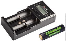 Комплект Soshine: зарядное устройство SC-H2 V2 + 1 АКБ 18650 (2900 мАч)