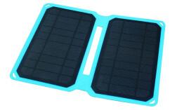 Портативная солнечная панель Soshine SC10W, 10Вт, голубая, с кабелем