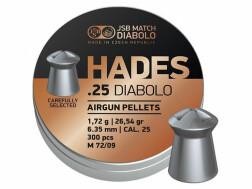 Пули JSB Hades .25, 1.720 г, 6.350 мм, 300 шт
