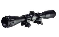 "Прицел Leapers UTG 4x32 1"" Hunter Scope, AO, Mil-dot, QD Rings SCP-U432AOW"