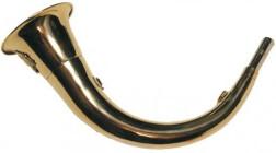 Горн охотничий 45 см латунь изогнутый круглый 45rnd
