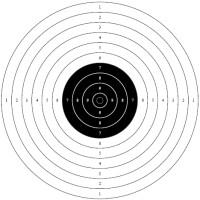 Мишень №9 для пневматических пистолетов 10 м, 170х170 мм, 50 шт